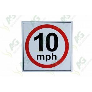 Sign: Speed Limit 10Mhp 310 X 310 mm - Aluminium