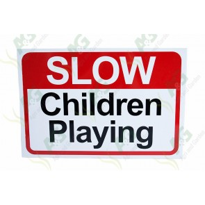 Sign: Slow Children Playing 450 X 300 mm - Plastic