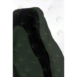 Seat Cover; 3D Stretch Front Green