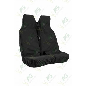 Seat Cover; Van Double Black