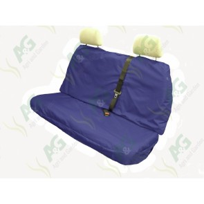 Seat Cover; Multi Fit Rear Blue