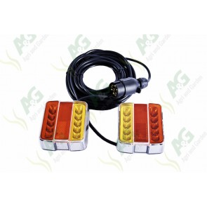 Magnetic Lamp Set Led Complete With Orange Indicator Lens